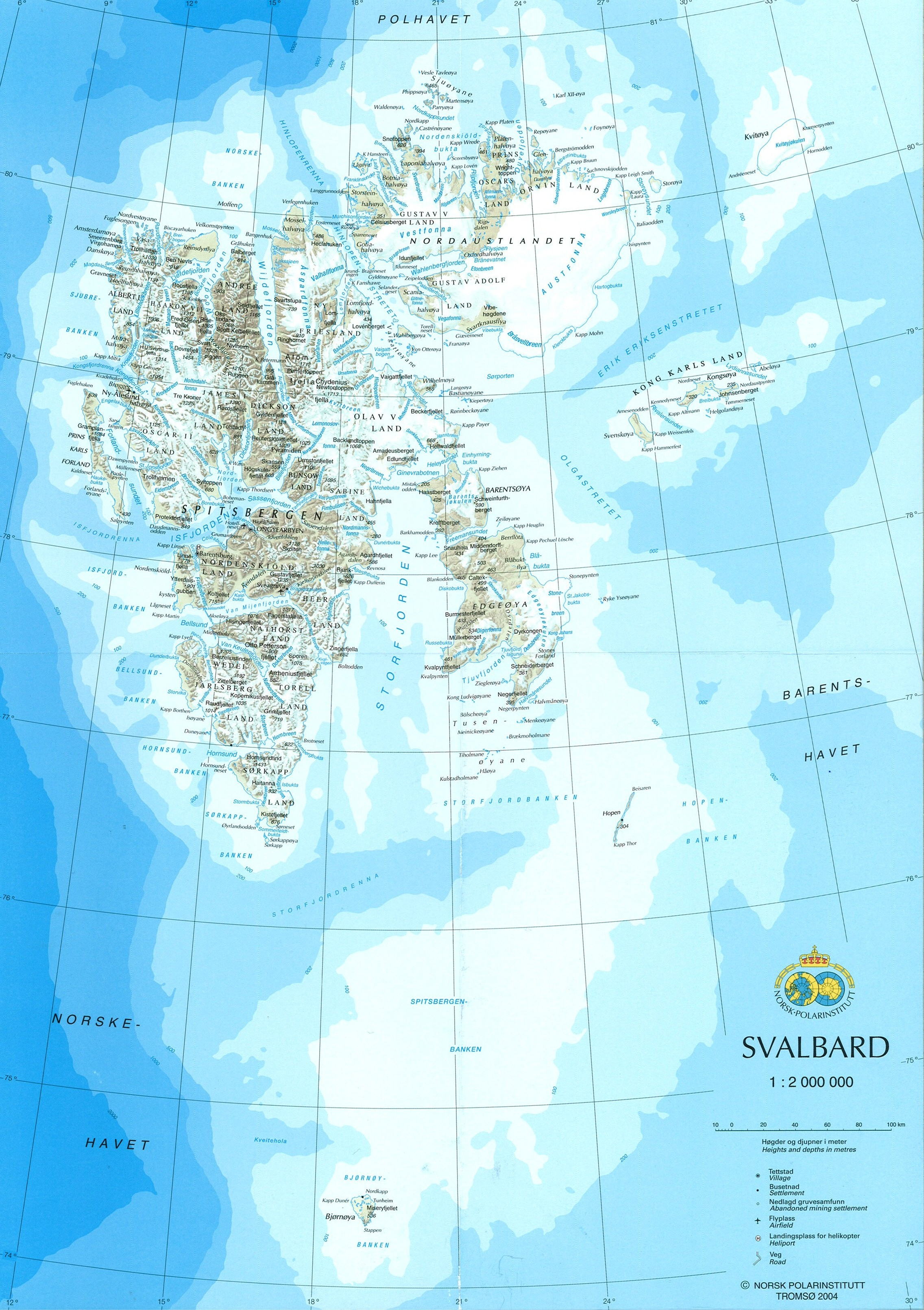 Svalbard map Welcome to Mountain Polar Bear Adventures